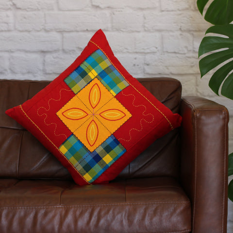 RY Patchwork Cushion Cover