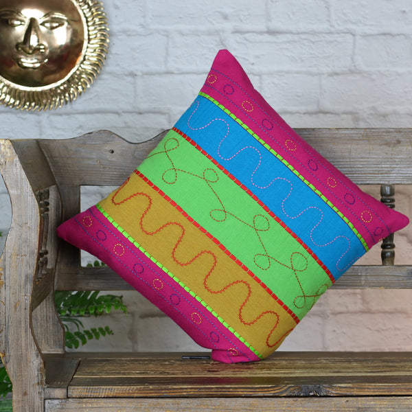 Stripes Patchwork Cushion Cover