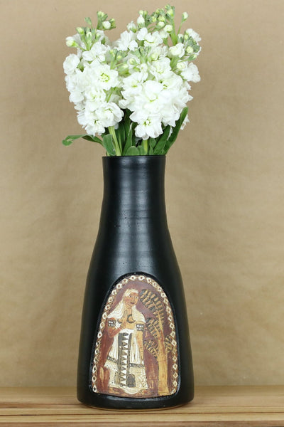 Handpainted Vase (Black L)