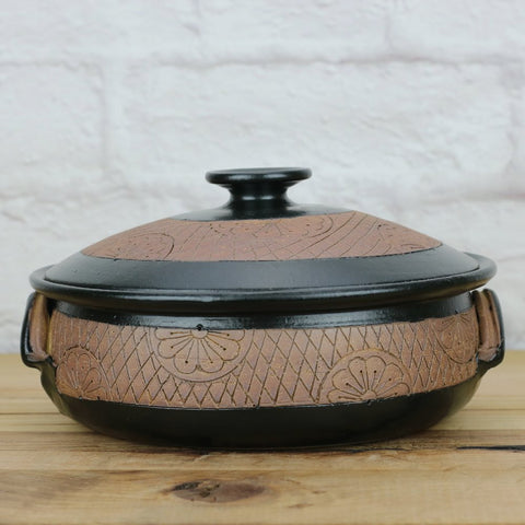 Serving Dish Black & Pottery