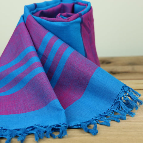 Stripy Blue Scarf