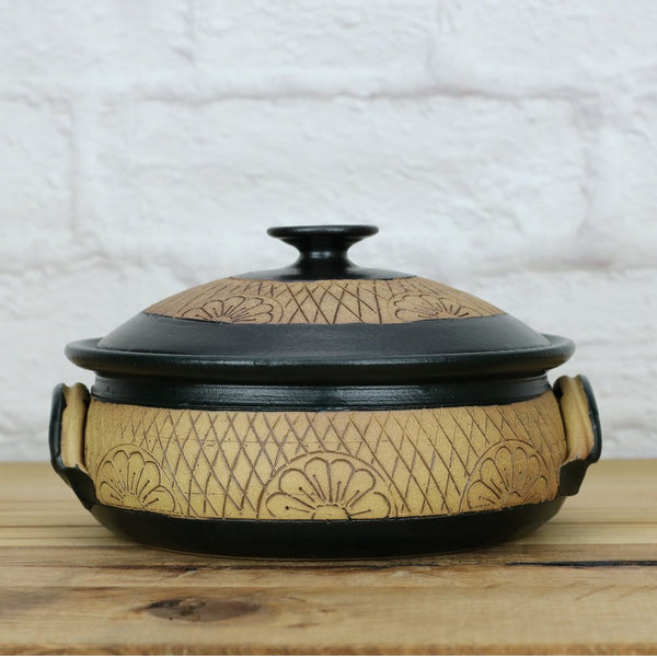 Serving Dish Black & Pottery (M)