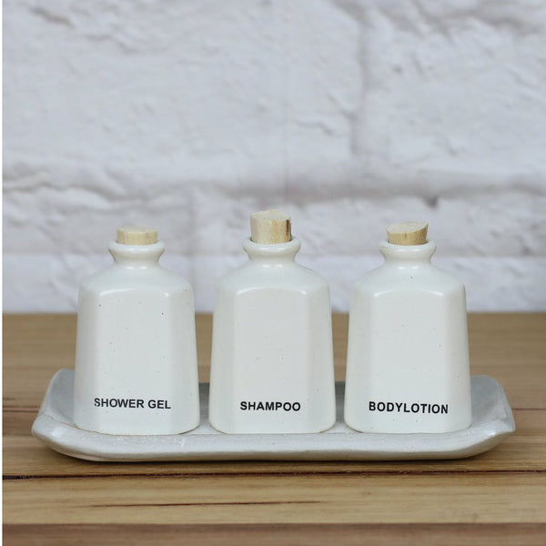 Casting Amenity 3 Bottles Set White