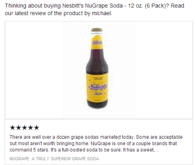 Nugrape Soda Review