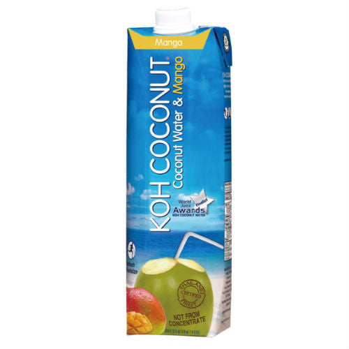 KOH COCONUT Coconut Water & Mango - 33.8 FL. OZ. /1.0 LITER (12 Pack)