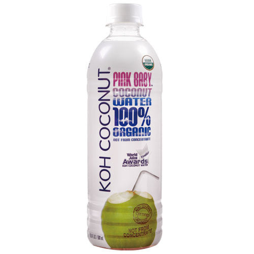 KOH COCONUT 100% Organic Pink Baby Coconut Water - 16.9 FL. OZ. (12 pack)