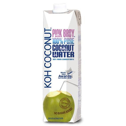 KOH COCONUT Pink Baby Coconut Water - 33.8 FL. OZ. (12 pack)