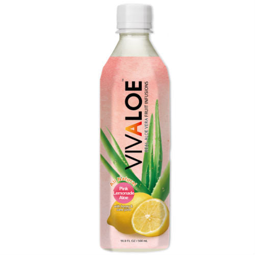 Vivaloe Pink Lemonade Aloe - 16.9 oz (24 Pack)