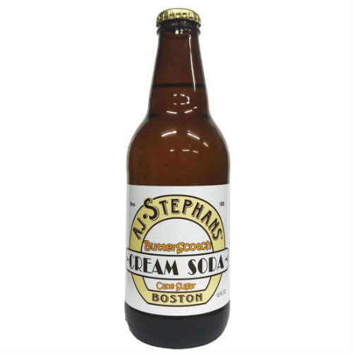 AJ Stephans Butterscotch Cream - 12 OZ (12 Glass Bottles)