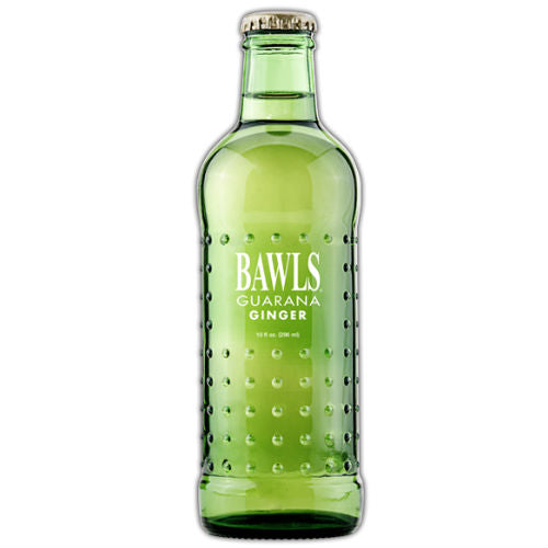BAWLS Guarana Ginger Ale - 10 oz  (12 Glass Bottles)