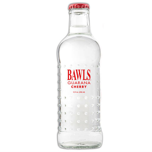 BAWLS Guarana Cherry - 10 oz  (12 Glass Bottles)