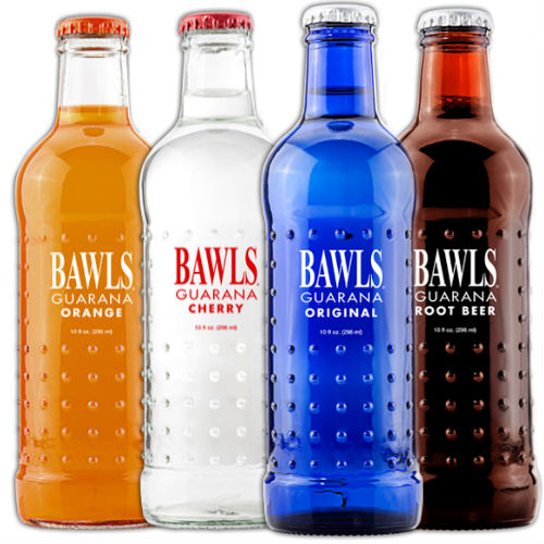 Ultimate BAWLS Guarana Energy Drink Sampler - (12 Glass Bottles)