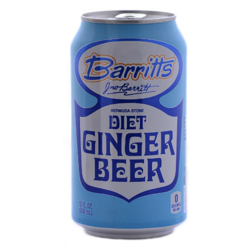 Barritts DIET Bermuda Ginger Beer - 12 oz Cans (12 Pack)