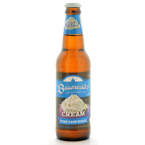 Baumeister Cream Soda - 12 oz (12 Glass Bottles)