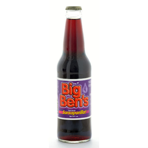 Big Ben's Sarsaparilla Soda - 12 OZ (12 Glass Bottles)