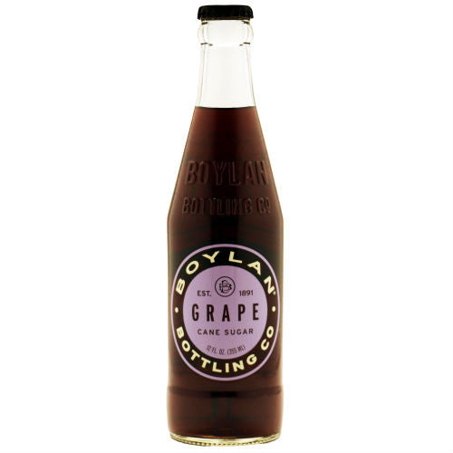 Boylan Grape Soda - 12 oz. (12 Glass Bottles)