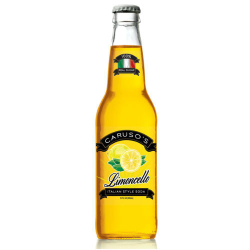 Carusos Limoncello Soda - 12oz (12 Pack)