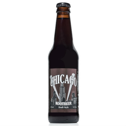 Chicago Draft Style Root Beer - 12 oz (12 Glass Bottles)