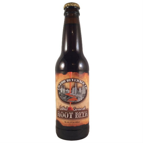 Cicero Beverage SALTED Caramel Root Beer- 12 oz (12 Pack)