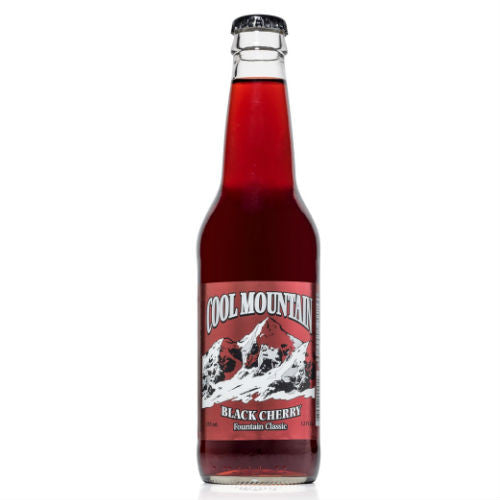 Cool Mountain Black Cherry Soda  - 12 oz (12 Glass Bottles)