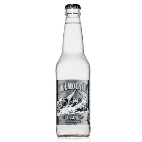 Cool Mountain Cream Soda - 12 oz (12 Glass Bottles)