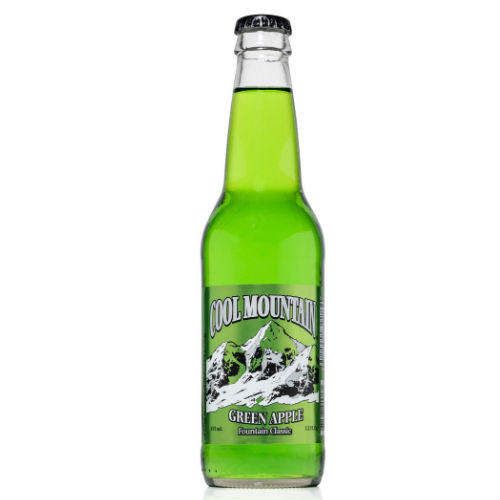 Cool Mountain Green Apple Soda  - 12 oz (12 Glass Bottles)