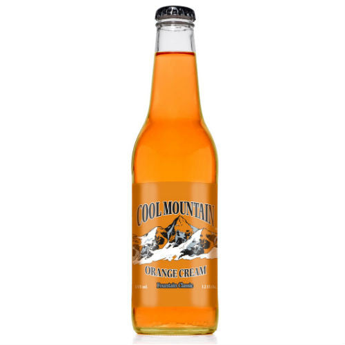 Cool Mountain Orange Cream Soda  - 12 oz (12 Glass Bottles)