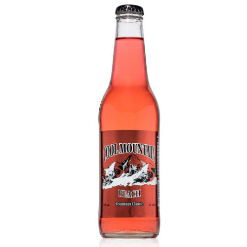 Cool Mountain Peach Soda  - 12 oz (12 Glass Bottles)
