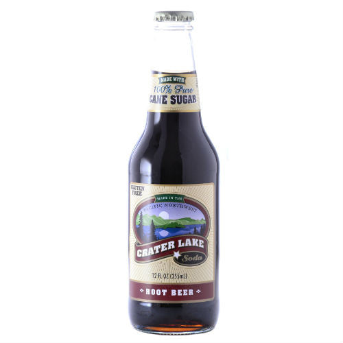 Crater Lake Root Beer - 12 oz (12 Glass Bottles)