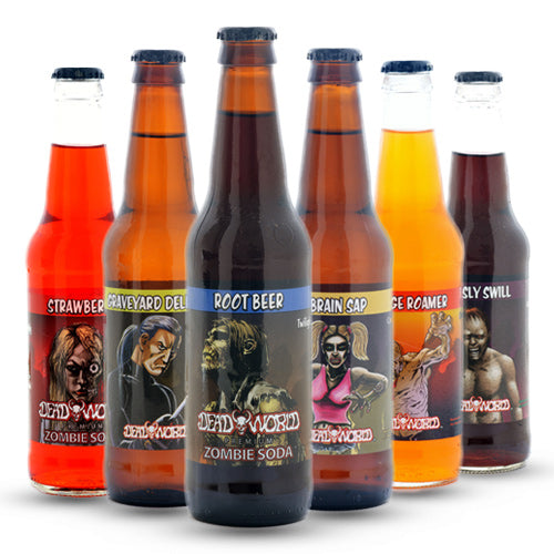 DeadWorld Zombie Soda Sampler - 12oz (12 Glass Bottles)