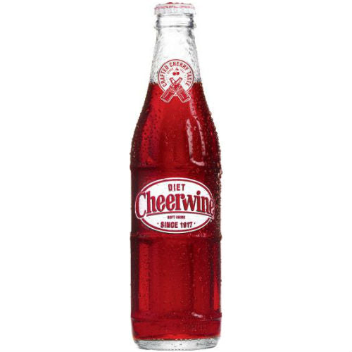 Cheerwine DIET Soda - 12 oz (12 Glass Bottles)