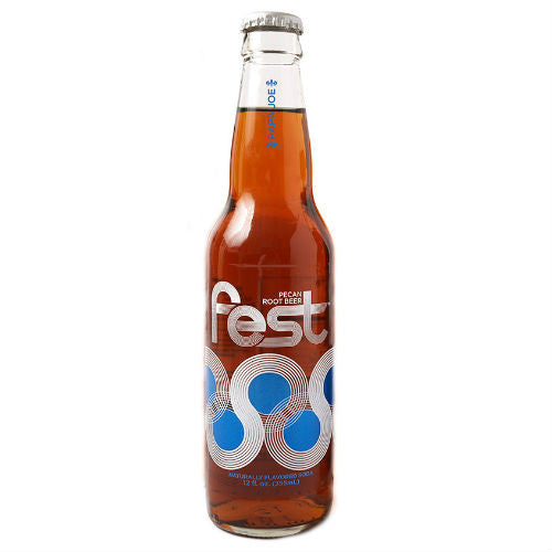 Fest Pecan Root Beer - 12 OZ (12 Glass Bottles)