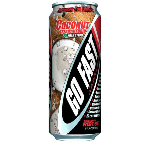 Go Fast Coconut Energy Drink - 16oz (24 Pack)