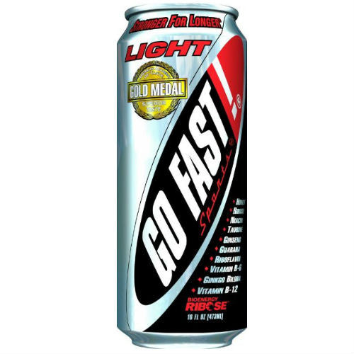 Go Fast Light Energy Drink - 16 oz (24 Pack)