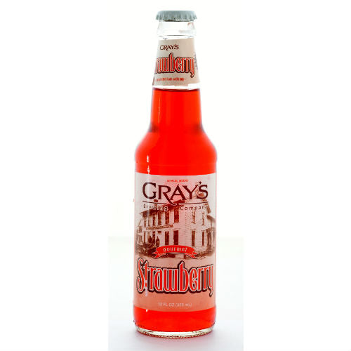 Gray's Strawberry Soda  - 12 oz (12 Pack) - Beverages Direct