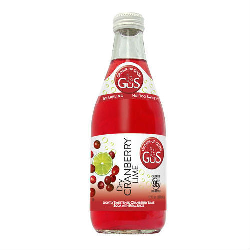 GuS Dry Cranberry Lime - 12 oz (12 Glass Bottles)