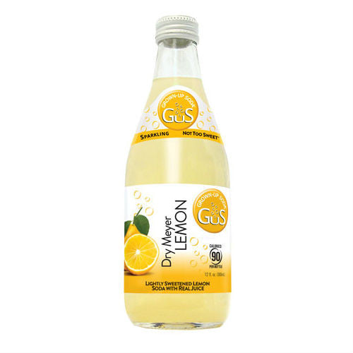 GuS Dry Meyer Lemon - 12 oz (12 Glass Bottles)
