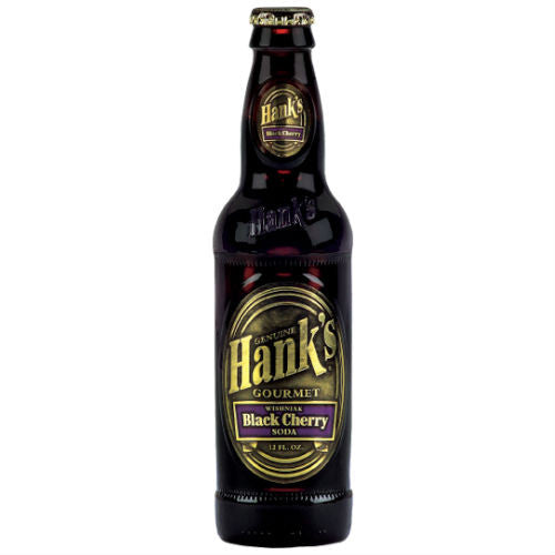 Hanks Wishniak Black Cherry Soda  - 12 oz (12 Glass Bottles)