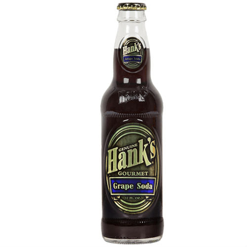 Hank's Grape Soda  - 12 oz (12 Glass Bottles)
