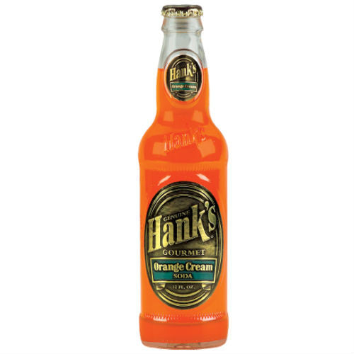 Hank's Orange Cream Soda  - 12 oz (12 Glass Bottles)