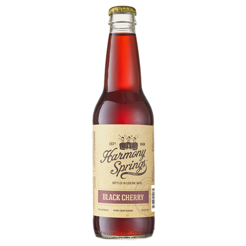 Harmony Springs Black Cherry Soda - 12 OZ (12 Glass Bottles)