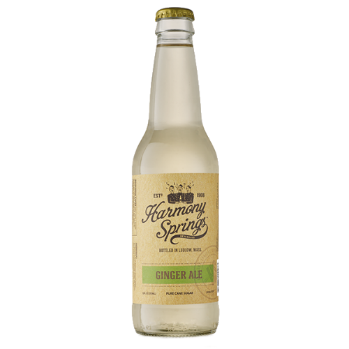 Harmony Springs Ginger Ale - 12 OZ (12 Glass Bottles)