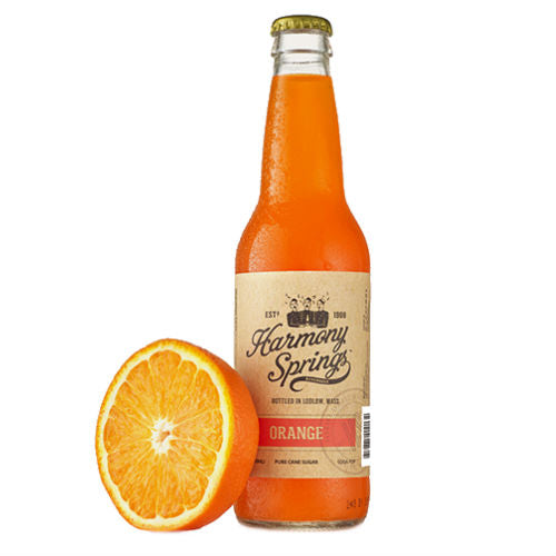 Harmony Springs Orange Soda - 12 OZ (12 Glass Bottles)