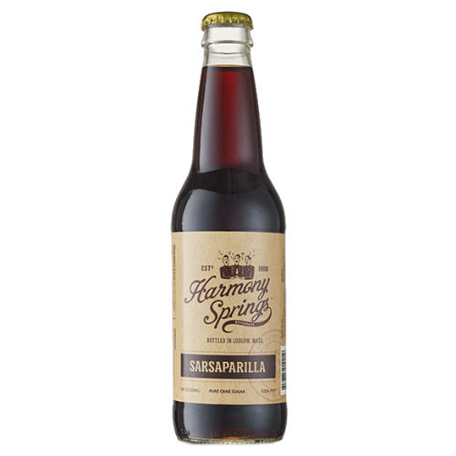 Harmony Springs Sarsaparilla Soda - 12 OZ (12 Glass Bottles)