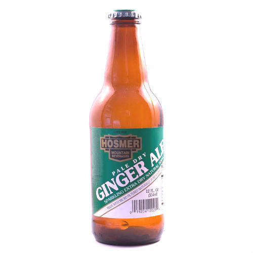 Hosmer Pale Dry Ginger Ale - 12 oz (12 Glass Bottles)