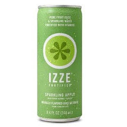 IZZE Fortified Sparkling Apple - 8.4 oz (12 Pack) - Beverages Direct