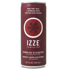 IZZE Fortified Sparkling Blackberry - 8.4 oz (12 Pack) - Beverages Direct