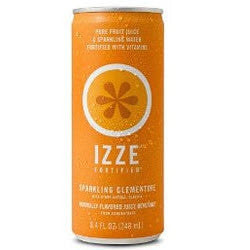 IZZE Fortified Sparkling Clementine - 8.4 oz (12 Pack) - Beverages Direct