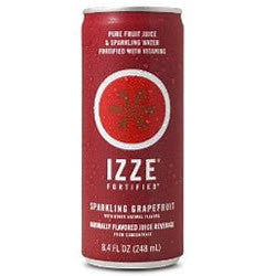 IZZE Fortified Sparkling Grapefruit - 8.4 oz (12 Pack) - Beverages Direct