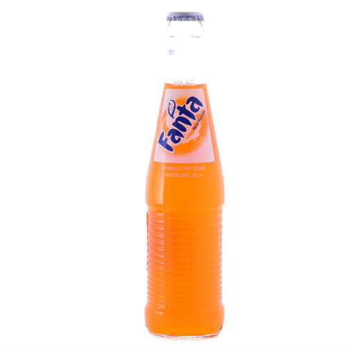 Mexican Fanta Orange with Pure Sugar - 12 oz (12 Glass Bottles)